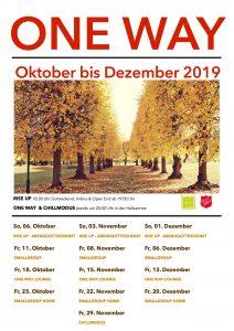 Programm ONE WAY Okt-Dez 2019